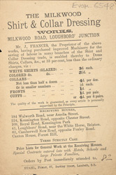 Advert for the Milkwood Laundry
